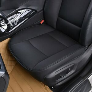 Pu Leather Black Car Interior Seat Cover Protector Cushion Front Cover Universal