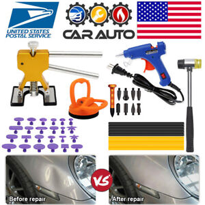 Car Paintless Dent Repair Removal Puller Auto Kits Dent Hail Damage Hammer Tools