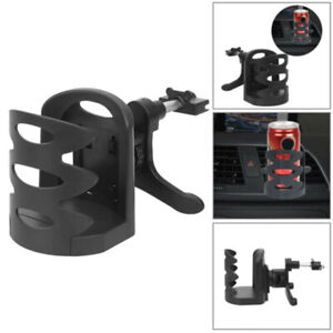 Black Car Accessories Drink Cup Holder Air Vent Clip on Mount Water Bottle Stand