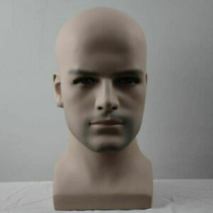 Realistic Fiberglass Male Mannequin Dummy Head For Hat And Wig Display