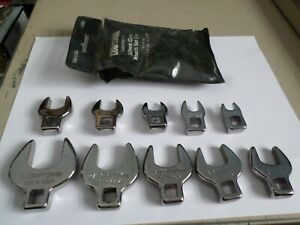 Vintage Craftsman V 10 Pc Crow Foot Wrench Set 4362 Sae 3 8 Drive Usa Guarantee