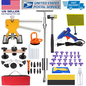 Us Paintless Dent Removal Puller Repair Kit Line Board Hammer Lifter Dent Tools