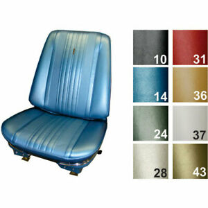 Pui 70as14u Standard Bucket Seat Cover 1970 Chevelle Blue