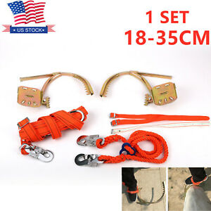 Tree Climbing Spikes With Safety Belt Strap Rope Non slip Pole Climbing Spikes