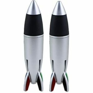 Vnfly 2 pack Rocket Pens 4 color Ballpoint Pen Fat Jumbo With Rubber Grip