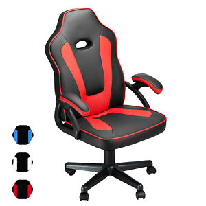 45 Gaming Desk Z Shaped Pc Ergonomic Racing Home Office Computer Table Rgb Us