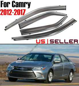 3d Wavy Style Smoked Window Visor Vent Shade For 2012 2017 Toyota Camry Le Se