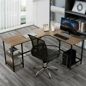 L shaped Computer Desk Pc Laptop Table Workstation Study Home Office