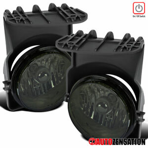 For 2003 2006 Gmc Sierra 1500 2500hd 3500 Smoke Driving Fog Lights Lamps Switch