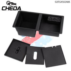 For 2014 17 Gm Center Console Organizer Front Floor Insert Tray Black