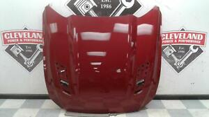 2015 2017 Ford Mustang Gt Oem Hood Panel W o Vents Scoops Red Damaged