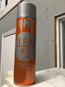 New U pol Clear 1 Uv Resistant Clearcoat Professional Use Only Appx 16 Oz 450ml
