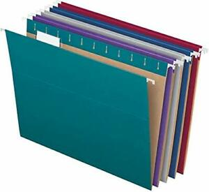 Pendaflex Recycled Hanging File Folders Letter Size 1 5 cut Tabs 25 Per Box