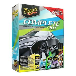 Meguiar S 6 Piece Complete Car Care Wash Detail Clean Kit G55208 New