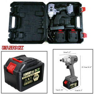 88v Brushless Electric Impact Wrench Cordless Rechargeable Hand Drill Power Tool