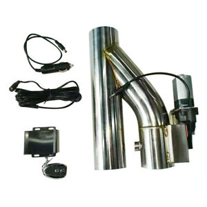 2 5 63cm Electric Exhaust Downpipe E cutout Dual valve Wireless Remote System