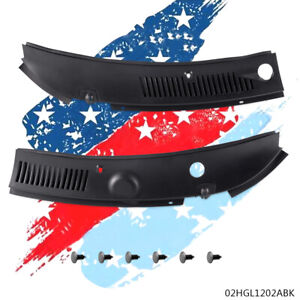 2pc Windshield Wiper Cowl Vent Grille Panel Hood For 1999 2004 Ford Mustang New