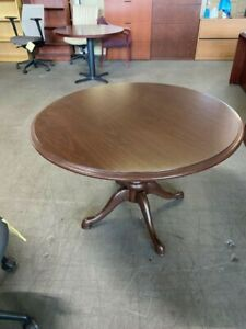 42 Round Conference Table By Kimball Office Furniture In Walnut Laminate