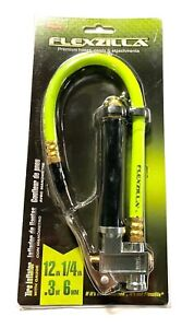 Flexzilla Tire Inflator With Gauge 1 4 Npt Straight On Chuck With 12 Hose