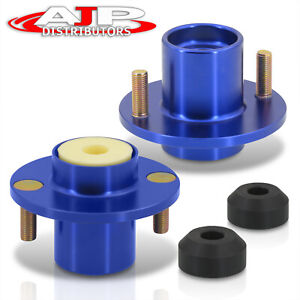 Blue Aluminum Coilover Shock Top Hat Mount Extended For 1988 2000 Civic Integra