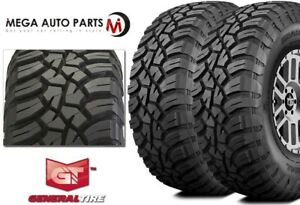 2 General Grabber X3 33x12 50r17lt 114q Red Letter Rugged Mud Terrain M t Tires