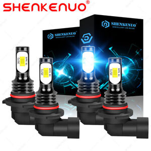 For 1994 1998 Gmc C10 Sierra Yukon 8000k Combo Led Headlight Bulbs Hi Low Beam
