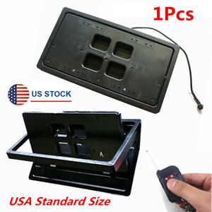 Us Remote Control Flip Flipper Retractable Number Swap Turn Blinds License Plate