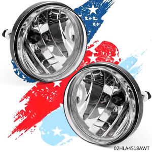 Clear Front Bumper Left Right Fog Lights Lamps For 07 13 Gmc Sierra 1500 2500