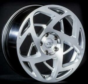 Jnc 047 Hyper Silver Machine Face 17x8 5 5x114 3 30 Wheel rim