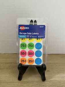 Set Of 3 Avery 6725 Garage Sale Labels Stickers Plus Color Coding Labels New