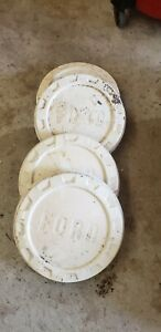 Vintage Ford Truck Pickup Bottle Cap Hubcaps 4 White Oem Authentic