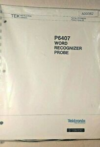 Tektronix P6407 Word Recognizer Probe Nos manual Accs Use With 2400 Scopes