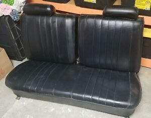Nicely Restored 1969 1970 1971 1972 Chevelle El Camino Black Bench Seat