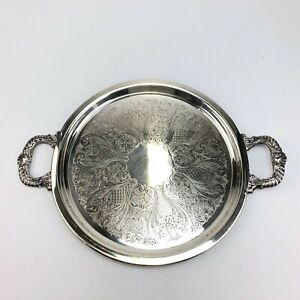 Vintage Sheridan Silverplate Serving Tray With Handles