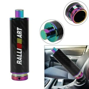 Ralliart Neo Chrome Carbon Fiber Car Handle Hand Brake Sleeve Universal Fitment
