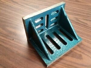 Slotted Angle Plate Webbed 7x5 1 2x4 1 2 Tensil Cast Iron Precise Ground sapw
