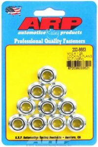 Arp 200 8683 M10 X 1 25 Serrated Flanged Hex Nut Kit Socket 12mm 10 Pc Pack