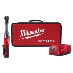 Milwaukee Electric Tools 2560 21 M12 Fuel 3 8 Ext Reach Ratchet 1 Batt Kit