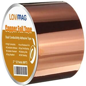Copper Foil Tape 2inch X 66 Ft Conductive Adhesive For Guitar Emi Shielding
