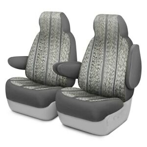 For Toyota Previa 94 97 Saddleman Saddle Blanket 1st Row Gray Custom Seat Covers