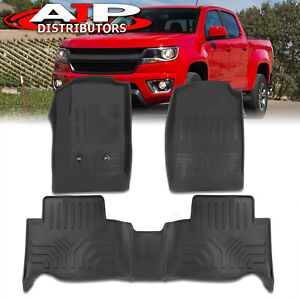 All Season Protect Floor Mats Liner Front Rear For 2015 2020 Chevy Colorado Crew