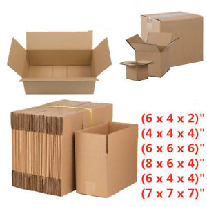 100 Pcs Cardboard Paper Boxes Mailing Packing Shipping Corrugated Carton Sturdy