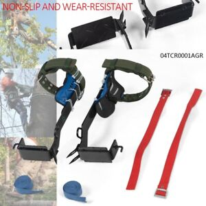 2 gear Tree Climbing Spike Set Safety Belt Lanyard Rope Pedal Adjustable New