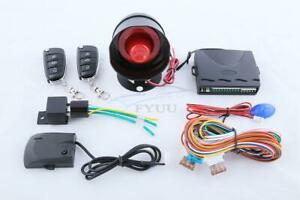 Universal Car Alarm System With Flip Key Remote Control Anti Theft Device 1 way