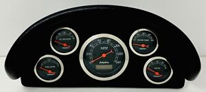 1956 Ford Truck Abs Dash Panel 5 Gauge Programmable Black