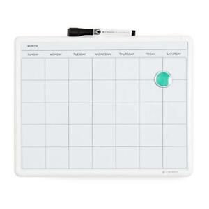 U Brands Contempo Magnetic Monthly Calendar Dry Erase Board 11 X 14 Inches