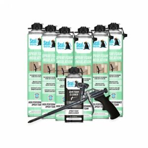 Seal Spray Closed Cell Insulating Foam Can Kit W gun Applicator cleaner 150 Bf