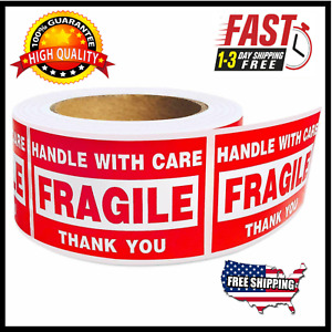 Rolls 2 X 3 Fragile Stickers 500 roll Handle With Care Labels Usa Shipping