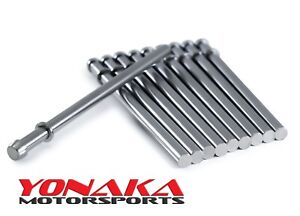 Yonaka 3 8 X 9 5 Exhaust Hanger Rods Polished 304 Stainless Steel 10 Pack