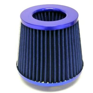 Blue Universal 4 Inlet Jdm Short Ram Turbo Cold Air Flow Intake Filter